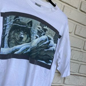 Vintage Men's Winter Wolf made in USA white L